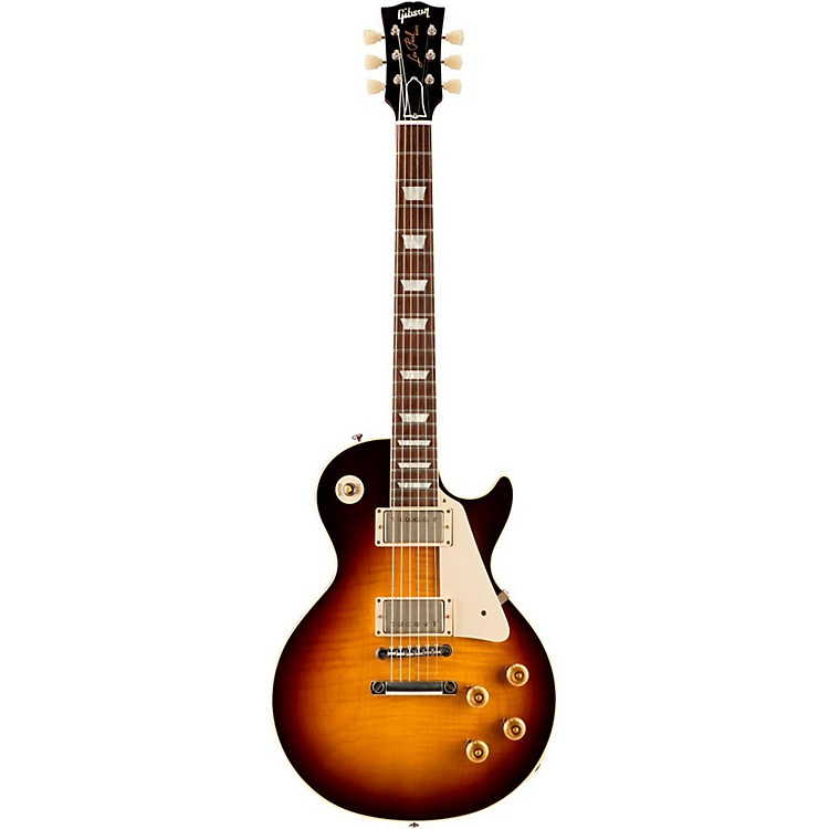 Gibson CustomStandard Historic 1958 Les Paul Plaintop Reissue VOS Electric GuitarFaded Tobacco