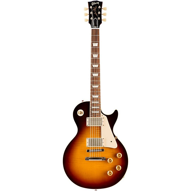 Gibson CustomStandard Historic 1959 Les Paul Reissue VOS Electric GuitarFaded Tobacco