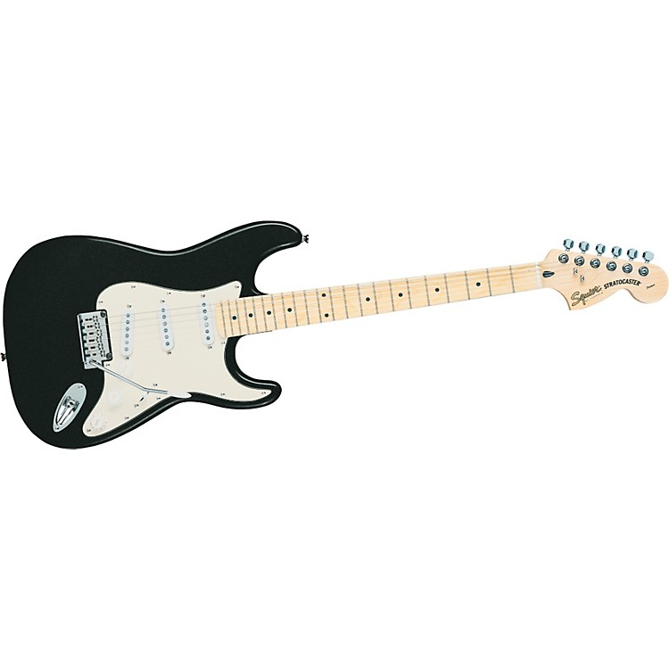 Squier Standard Stratocaster Electric Guitar Black Metallic Maple Fretboard