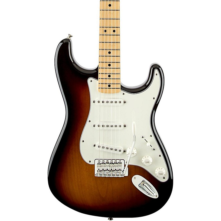 Fender Standard Stratocaster Electric Guitar with Maple Fretboard Brown Sunburst Gloss Maple Fretboard