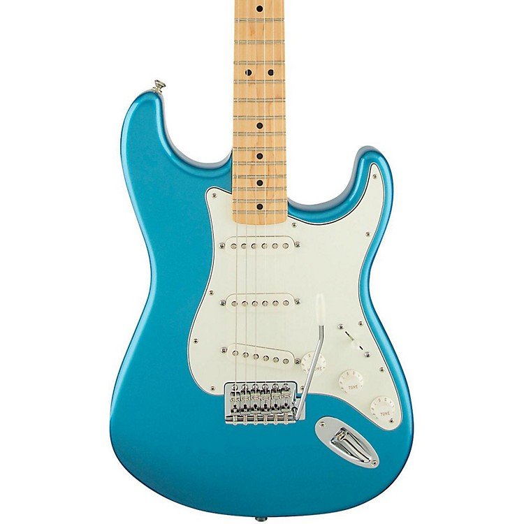 Fender Standard Stratocaster Electric Guitar with Maple Fretboard Lake Placid Blue Gloss Maple Fretboard