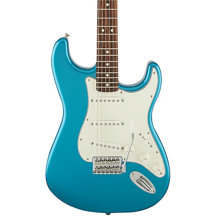 Fender Standard Stratocaster Electric Guitar with Rosewood Fretboard Lake Placid Blue Rosewood Fretboard