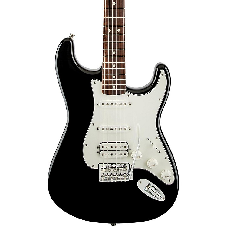 FenderStandard Stratocaster HSS Electric GuitarBlackRosewood Fretboard