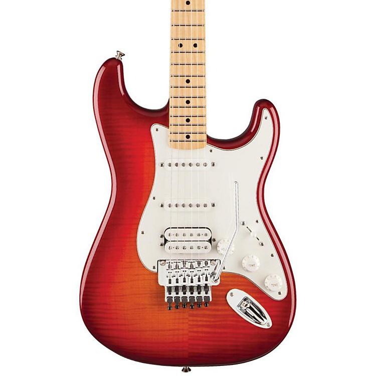 FenderStandard Stratocaster HSS Plus Top with Locking Tremolo, Maple FingerboardAged Cherry SunburstMaple Fingerboard