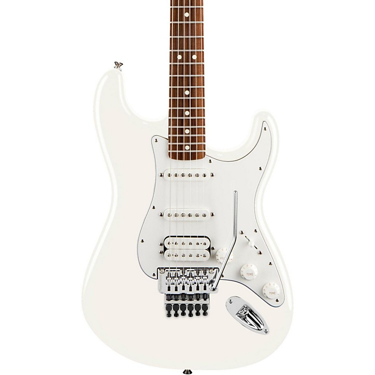 Fender Standard Stratocaster HSS with Floyd Rose Electric Guitar Arctic White Rosewood Fretboard