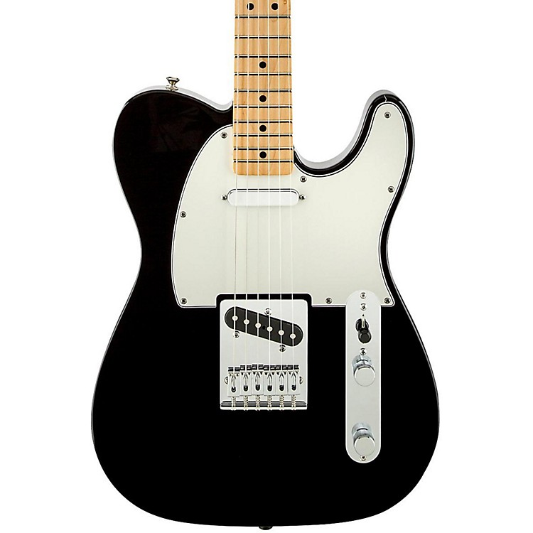 Fender Standard Telecaster Electric Guitar Black Gloss Maple Fretboard
