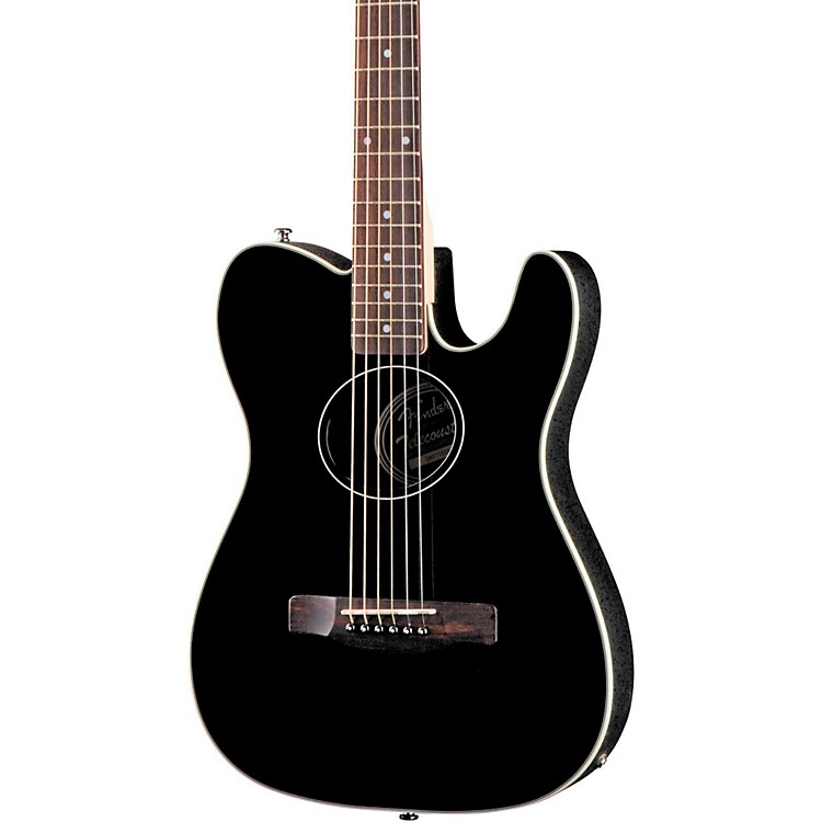 Fender Standard Telecoustic Acoustic-Electric Guitar Black