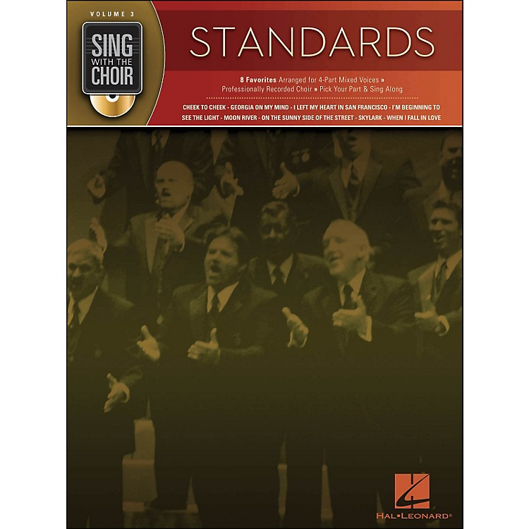 Hal LeonardStandards - Sing with The Choir Series Volume 3 Book/CD