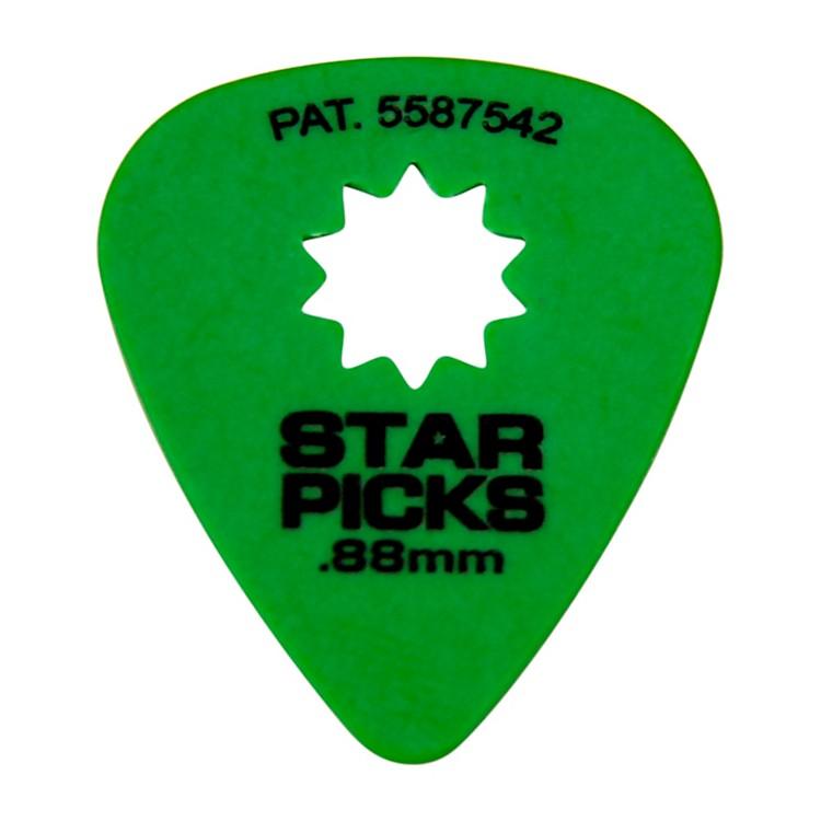 EverlyStar Grip Guitar Picks (50 Picks).88 mmGreen