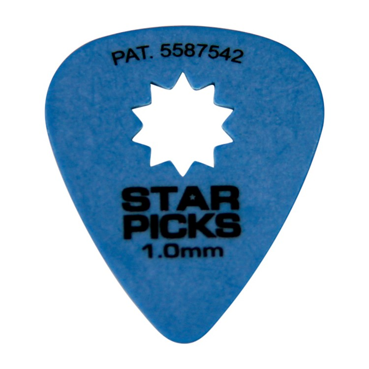 Everly Star Grip Guitar Picks (50 Picks) 1.0 mm Blue