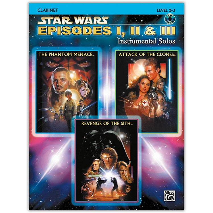 Alfred Star Wars: Episodes I, II & III Instrumental Solos Clarinet Book & CD