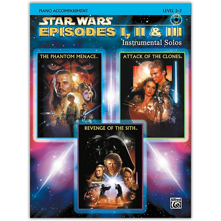 Alfred Star Wars: Episodes I, II & III Instrumental Solos Piano Acc. Book & CD