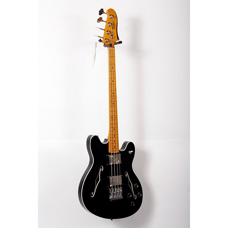 Fender Starcaster Electric Bass Black, Maple Fingerboard 888365769905