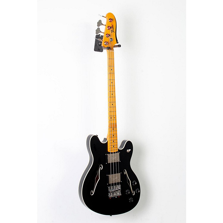 Fender Starcaster Electric Bass Black, Maple Fingerboard 888365805009