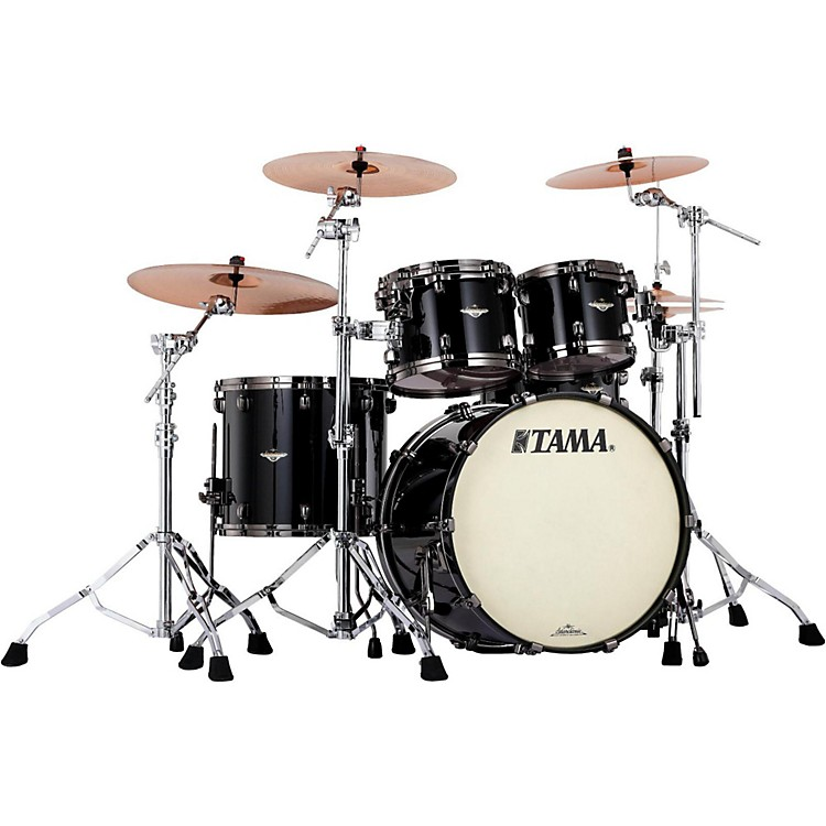 Tama Starclassic Bubinga 4-Piece Shell Pack Piano Black