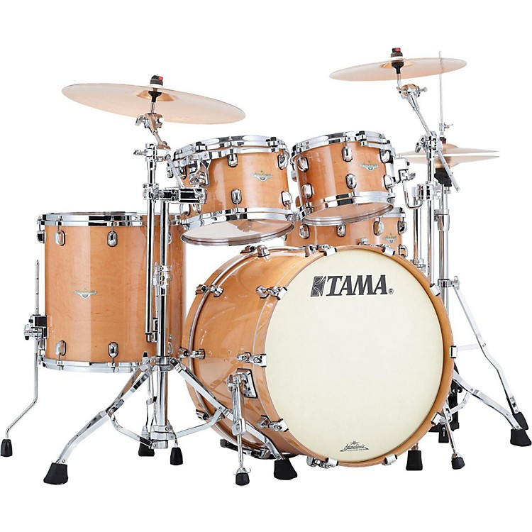 Tama Starclassic Maple Exotix 4-Piece Shell Kit with Chrome Shell Hardware Maple Gloss Figured