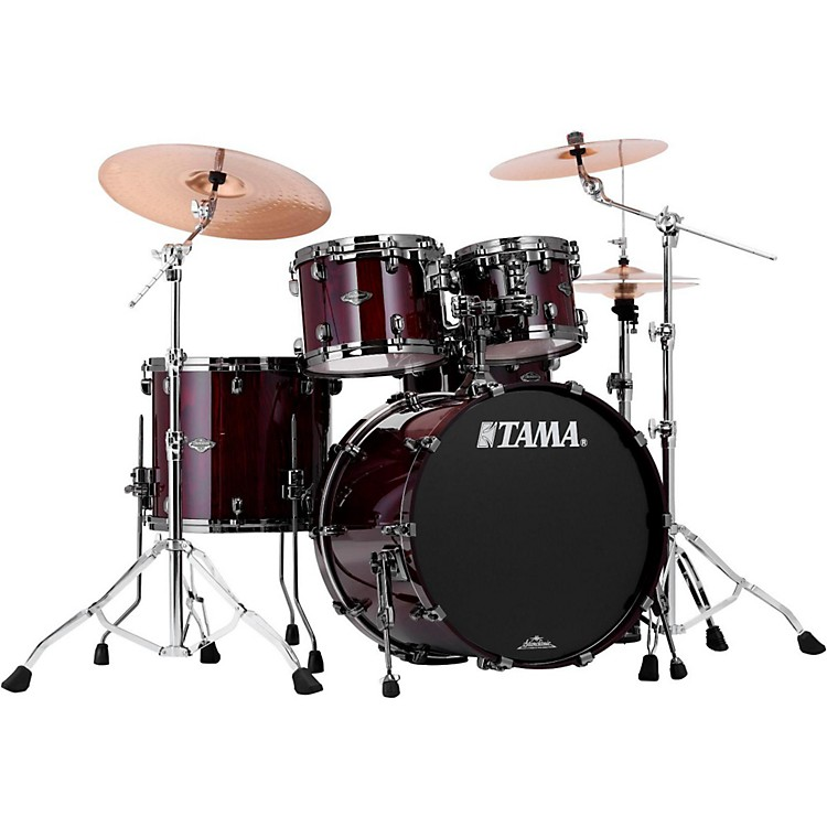 Tama Starclassic Performer B/B Exotix Limited Edition 4-Piece Shell Pack Red Lacebark Pine