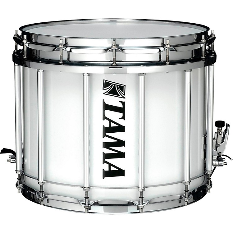 Tama MarchingStarlight Marching Snare Drum with Carrier14 x 12 in.Sugar White