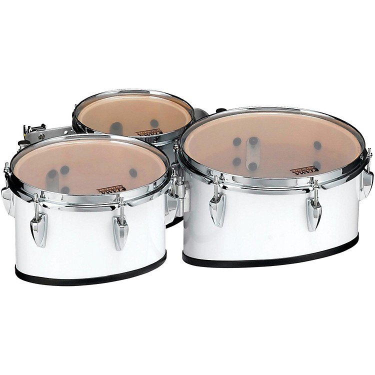Tama MarchingStarlight Marching Tenor Drums Trio with Carrier8, 10, 12 in.Sugar White