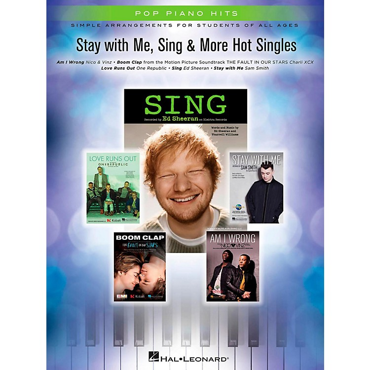 Hal LeonardStay With Me, Sing & More Hot Singles for Easy Piano