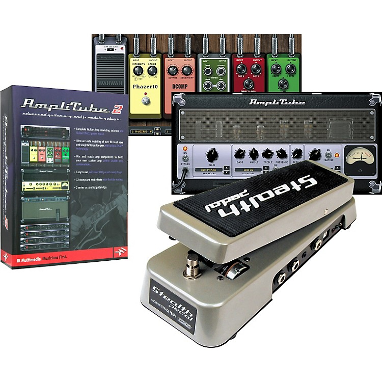 IK MultimediaStealthPedal Audio Interface/Controller + AmpliTube 2 Guitar Amp and Effects Modeling Plug-In