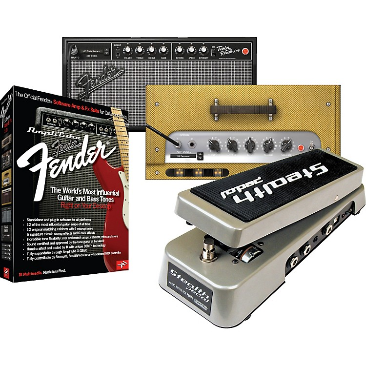 IK Multimedia StealthPedal Audio Interface/Controller + AmpliTube Fender Amp & Effects Software Suite