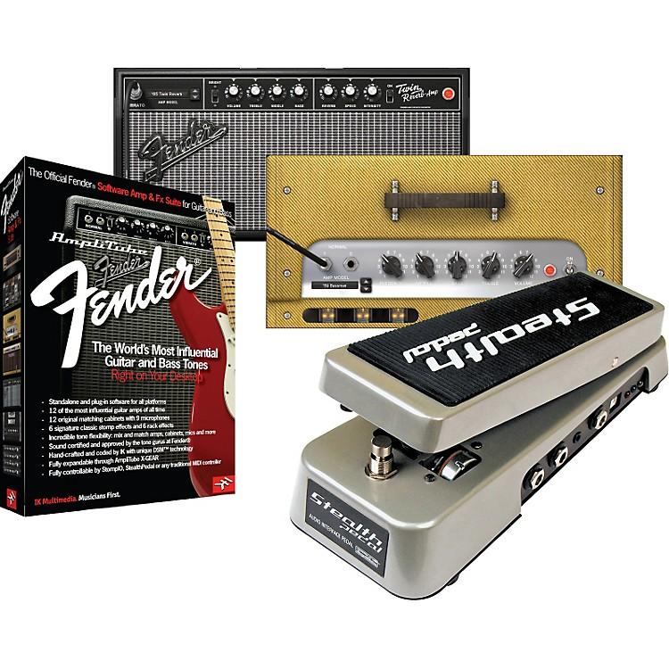IK MultimediaStealthPedal Audio Interface/Controller + AmpliTube Fender Amp & Effects Software Suite