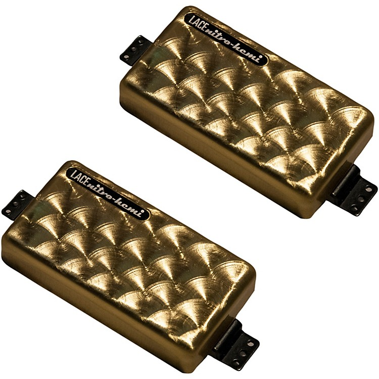 Lace Steampunk Nitro Hemi Humbucker Guitar Pickup Set Brushed Gold