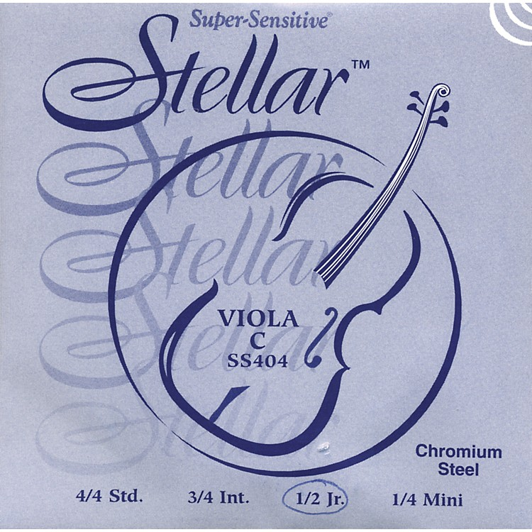 Super Sensitive Stellar Viola Strings C, Medium 15+ in.