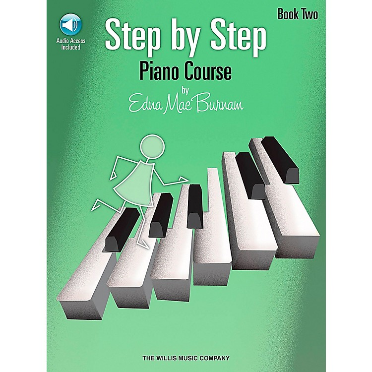 Willis MusicStep By Step Piano Course Book 2 Book/CD Pkg