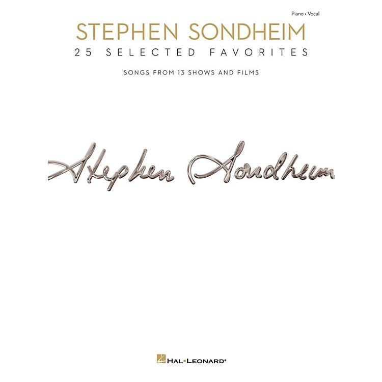 Hal LeonardStephen Sondheim - 25 Selected Favorites for Piano/Vocal/Guitar