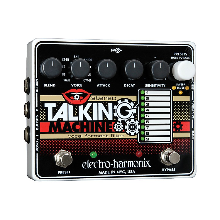 Electro-HarmonixStereo Talking Machine Vocal Formant Filter Guitar Effects Pedal