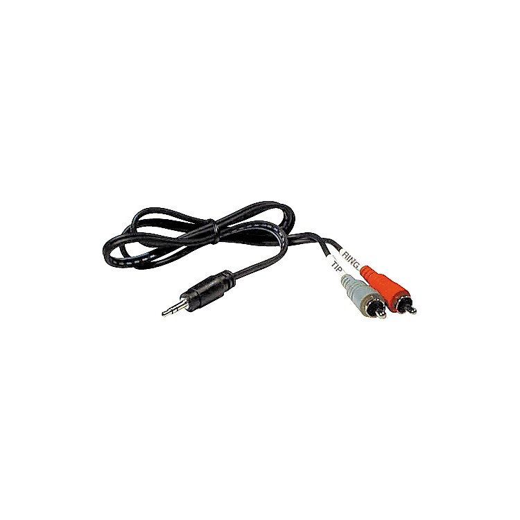 HosaStereo Y-cable Mini Male-Two RCA Males