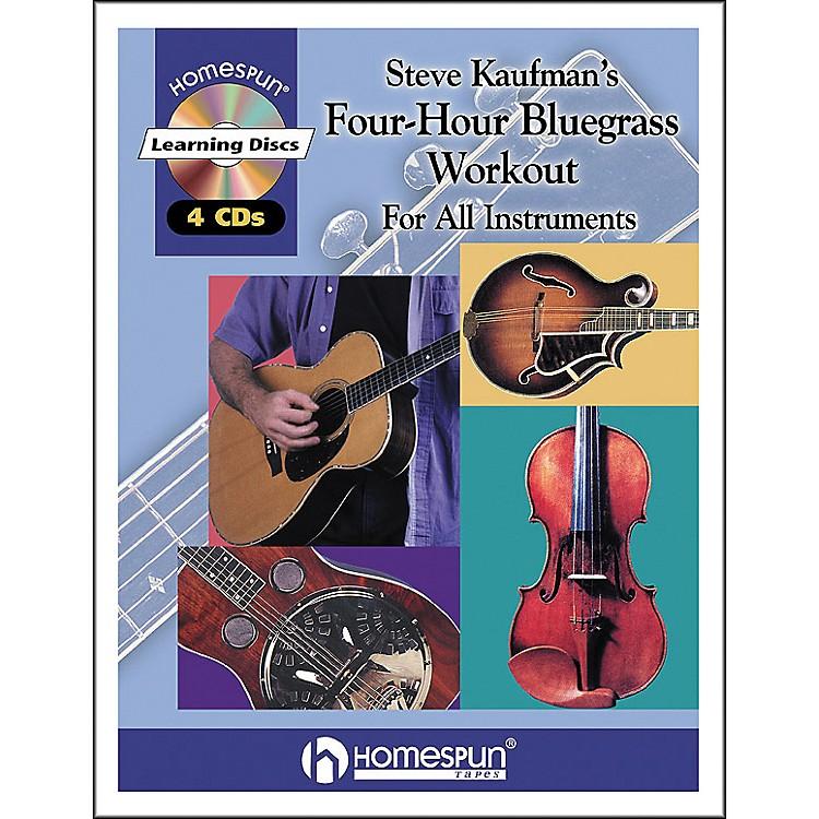HomespunSteve Kaufman's 4 Hour Bluegrass Workout Book/4 CD Package