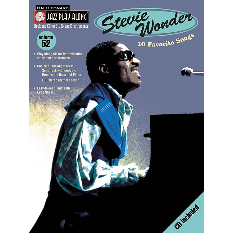 Hal Leonard Stevie Wonder - Jazz Play Along, Volume 52 (Book/CD)