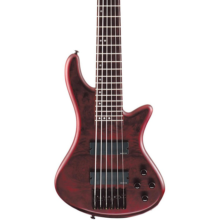 Schecter Guitar Research Stiletto Custom 6 6-String Bass Guitar Vampyre Red Satin