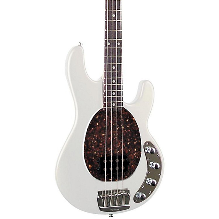 Ernie Ball Music Man StingRay 4-String Electric Bass Guitar White Rosewood Fretboard