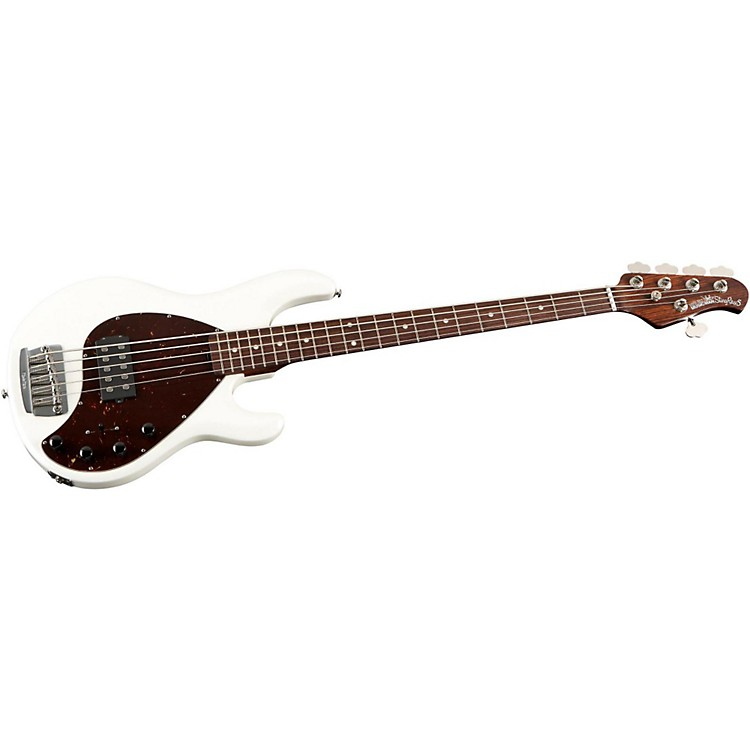 Music Man StingRay 5 H 5-String Electric Bass Guitar with All Rosewood Neck White