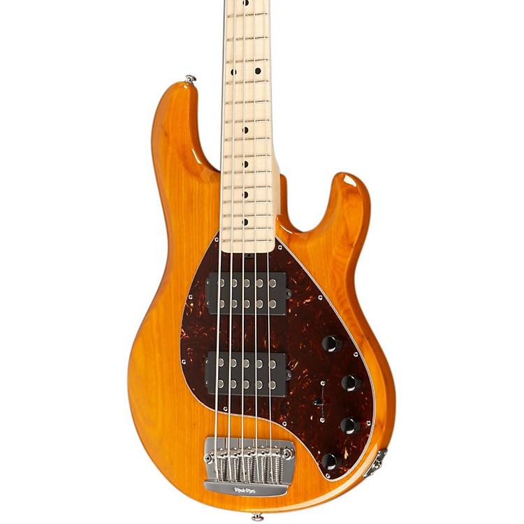Ernie Ball Music ManStingray 5 HH 5-String Electric BassTransparent GoldMaple Fretboard