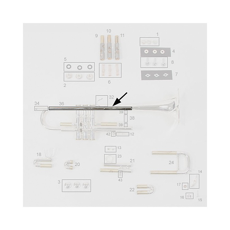 BachStradivarius Bb Trumpet Replacement Leadpipe