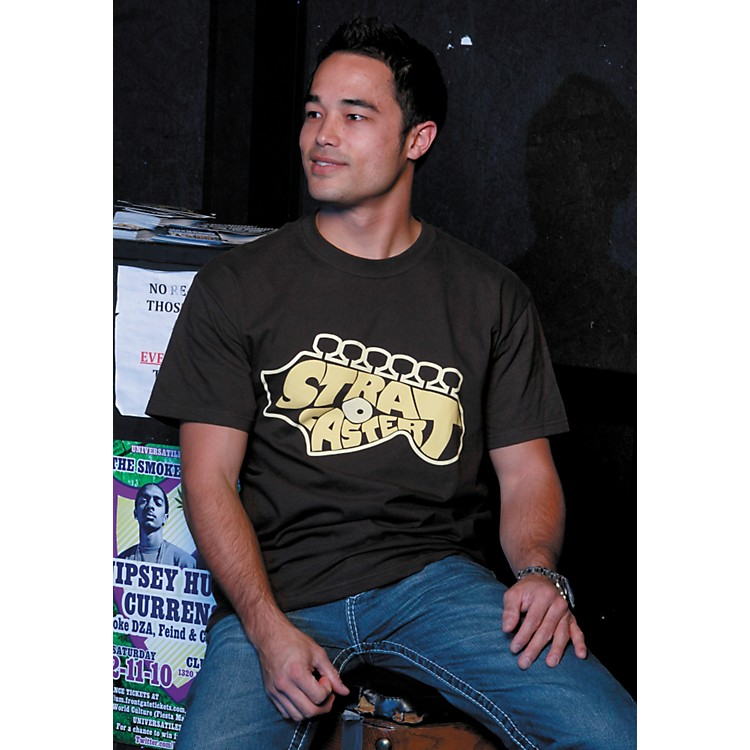FenderStrat Headstock T-ShirtBrownMedium