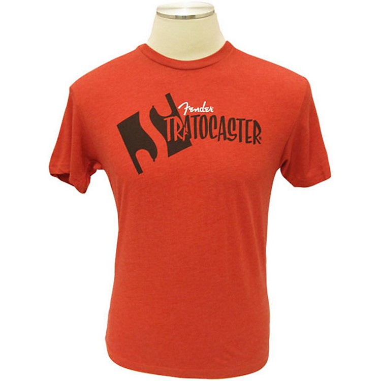 Fender Strat Headstock T-Shirt Red Small