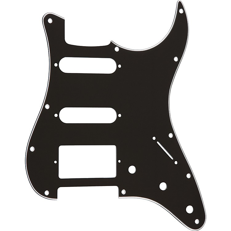 ProLine Strat-Style Hum-Single-Single 3-Ply Pickguard Black
