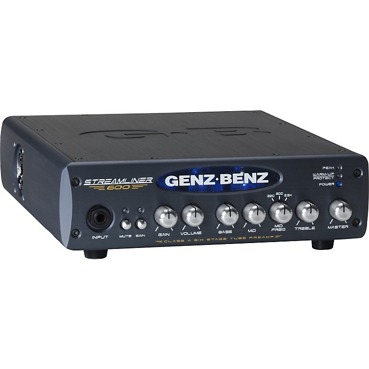 Genz Benz Streamliner 600 STM-600 600W Bass Amp Head Black
