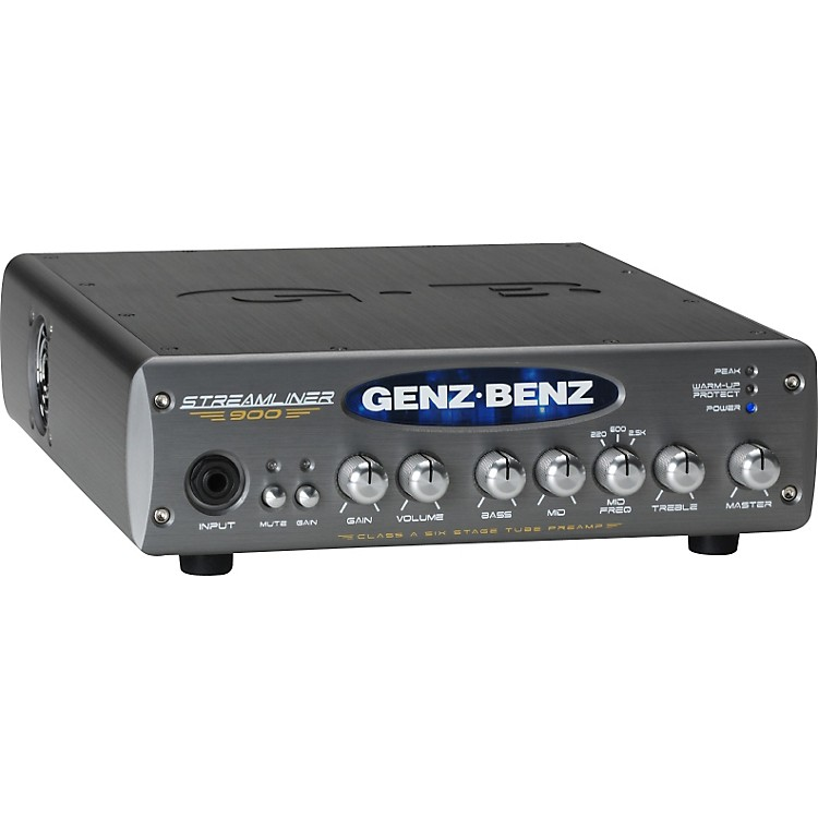 Genz Benz Streamliner 900 STM-900 900W Bass Amp Head Black