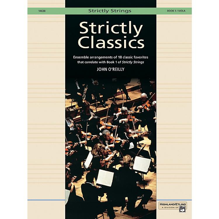 AlfredStrictly Classics Book 1 Viola