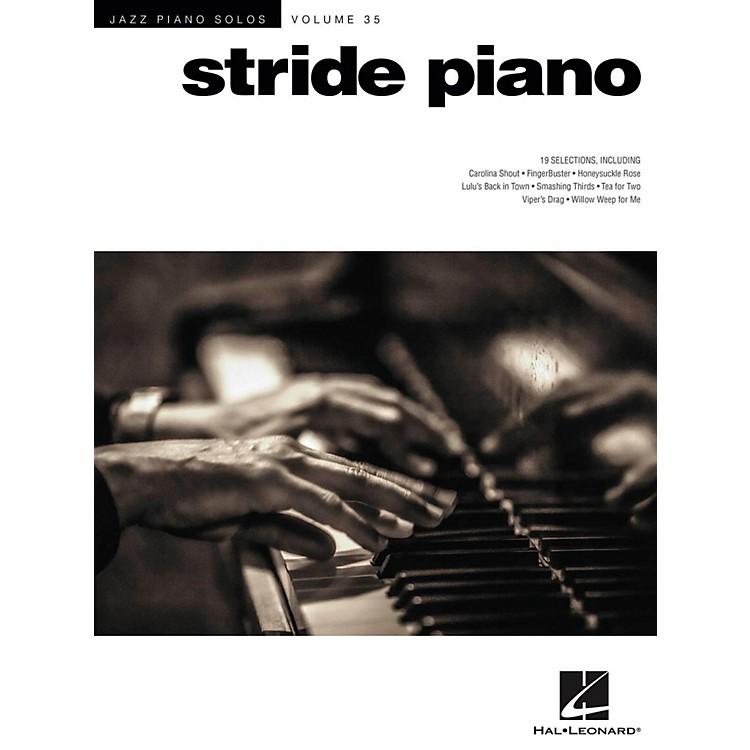 Hal LeonardStride Piano - Jazz Piano Solos Series Vol. 35