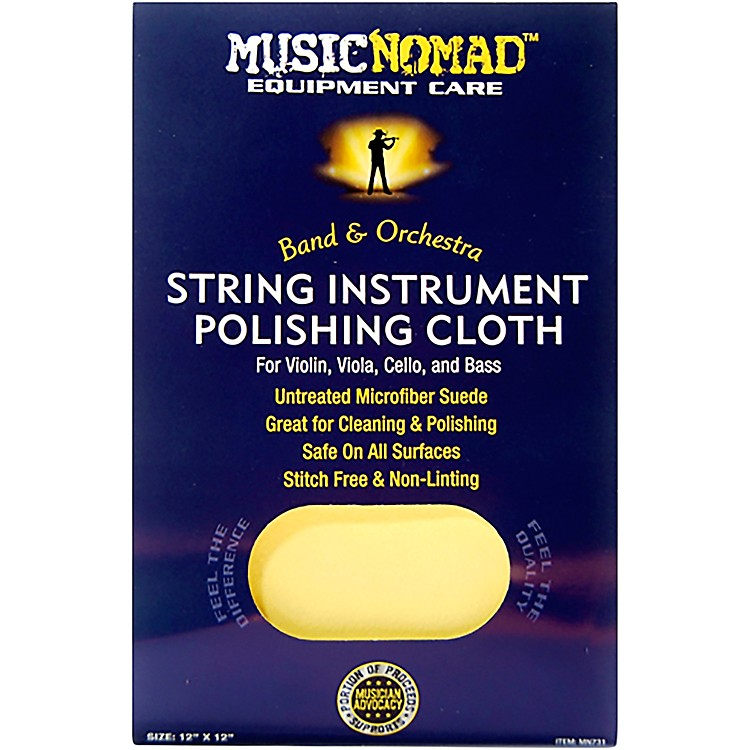 Music NomadString Instrument Microfiber Polishing Cloth for Violin, Viola, Cello & Bass12 x 12 in.