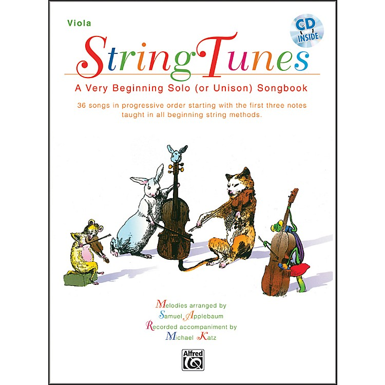 Alfred StringTunes - A Very Beginning Solo (or Unison) Songbook Viola Book & CD