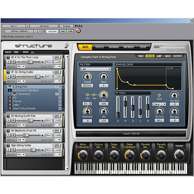 Digidesign Structure Sampler Virtual Instrument